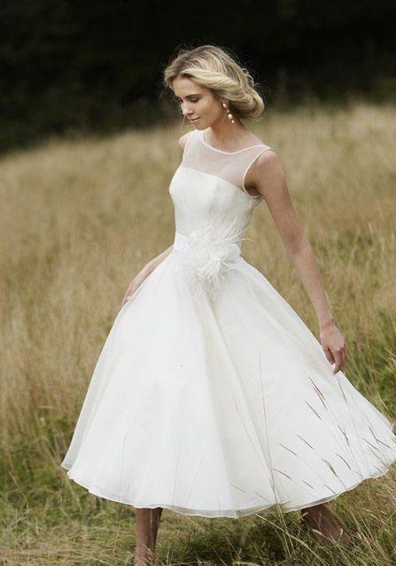 abito da sposa, stile longuette 8
