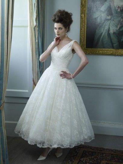 abito da sposa, stile longuette 10