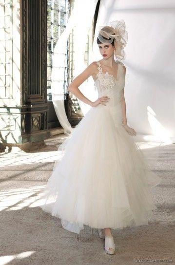 abito da sposa, stile longuette 11