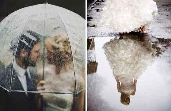 Guida agli accessori da sposa 9 - l'ombrello - pioggia