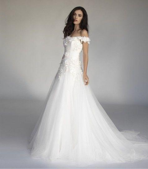 abito da sposa, stile scollo omerale