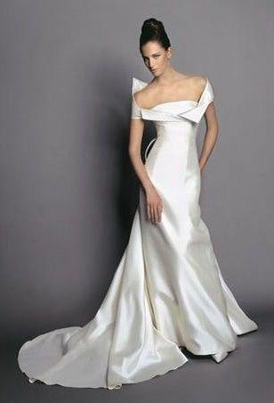 abito da sposa, stile scollo omerale 1