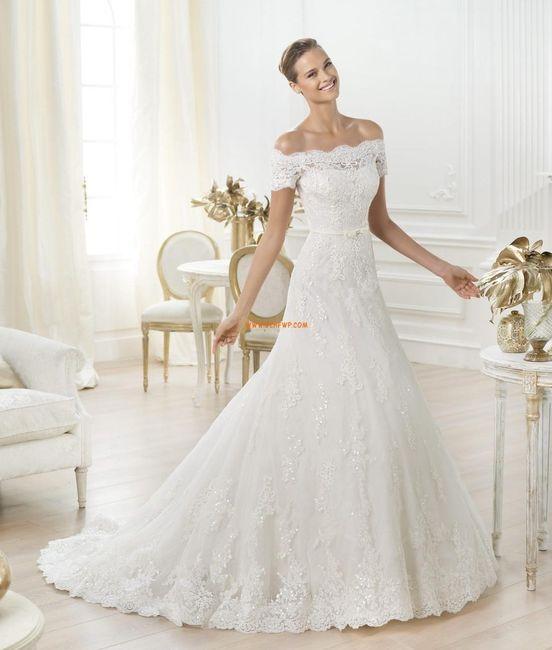 abito da sposa, stile scollo omerale 2