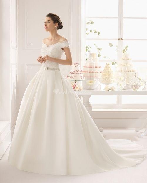 abito da sposa, stile scollo omerale 3