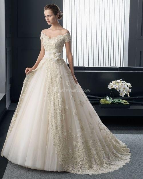abito da sposa, stile scollo omerale 7