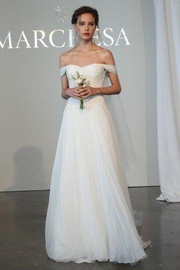 abito da sposa, stile scollo omerale 6