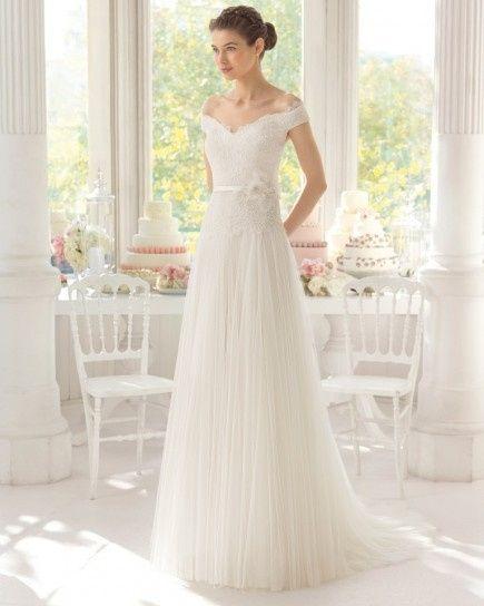 abito da sposa, stile scollo omerale 14
