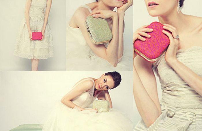 accessori da sposa , borsetta colorata
