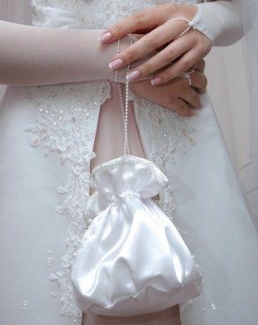 accessori da sposa , borsetta tessuto abito 1