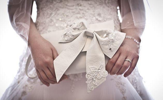 accessori da sposa , borsetta creativa
