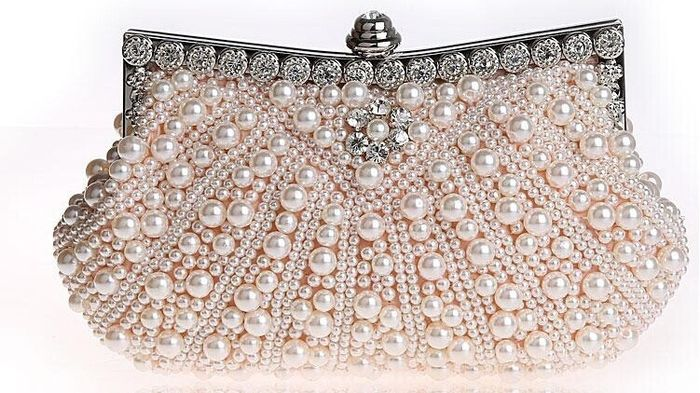 accessori da sposa , borsetta perle