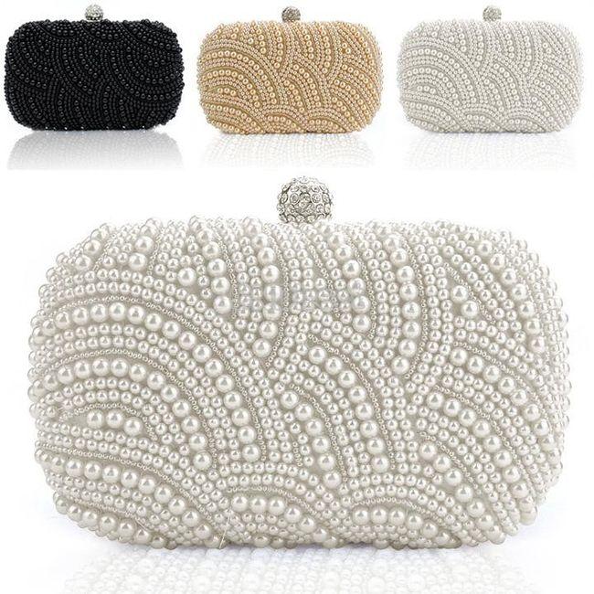 accessori da sposa , borsetta perle 1