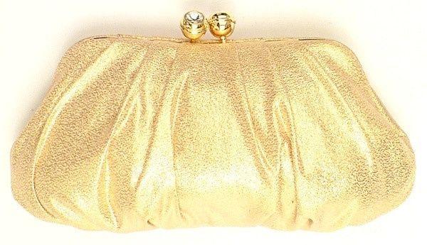 accessori da sposa , borsetta dorata
