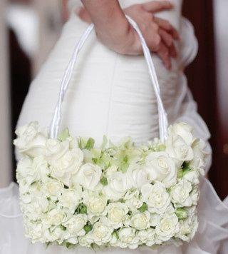 accessori da sposa , borsetta fiori 1