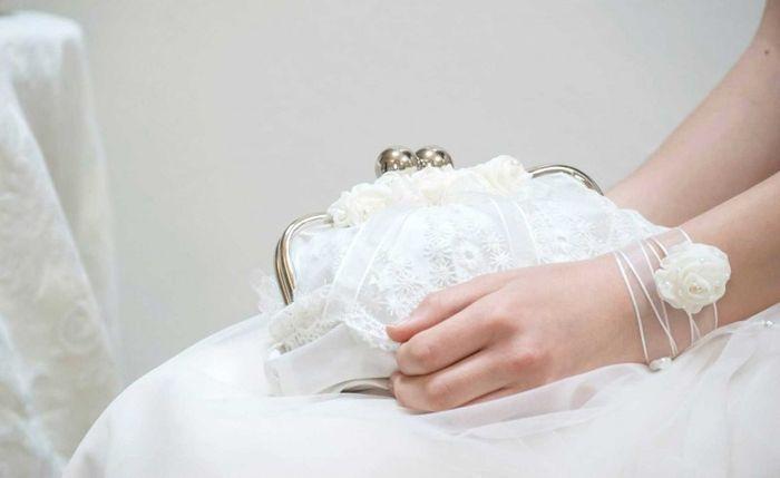 accessori da sposa , borsetta tessuto abito 3