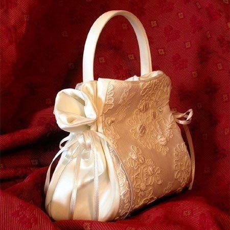 accessori da sposa , borsetta tessuto abito 4