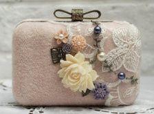 accessori da sposa , borsetta rustica 1