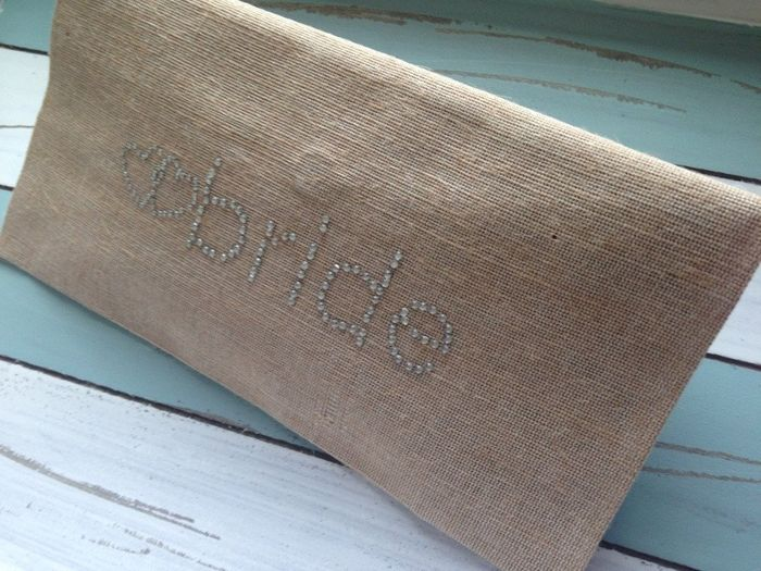 accessori da sposa , borsetta rustica 3