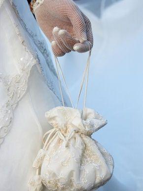 accessori da sposa , borsetta tessuto abito 5