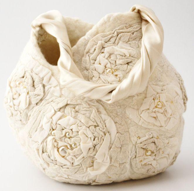 accessori da sposa , borsetta rustica 4