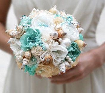 Bouquet Sposa Mare.Il Bouquet Della Sposa 13 Di Conchiglie Marino Moda