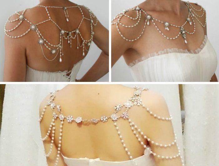 accessori da sposa , coprispalla , gioiello per le spalle