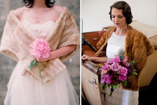 accessori da sposa , coprispalla , pelliccia