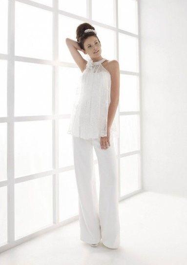 abito da sposa, stile coi pantaloni 1
