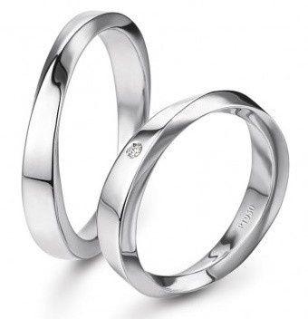 accessori sposi, fedi nuziali, modello platino