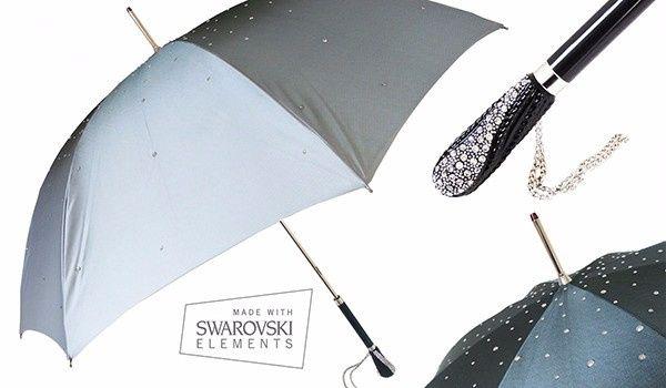 Guida agli accessori da sposa 9 - l'ombrello - swarovski