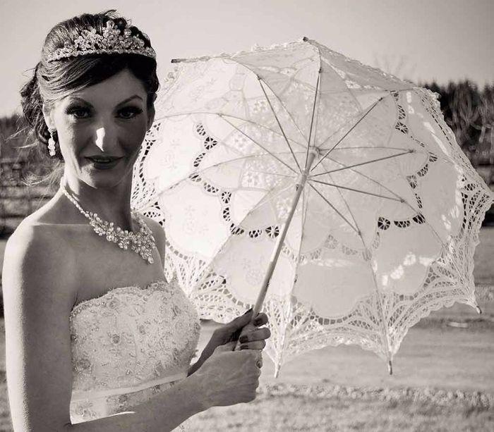 Guida agli accessori da sposa 9 - l'ombrello - pizzo