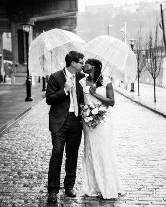 Guida agli accessori da sposa 9 - l'ombrello - trasparente