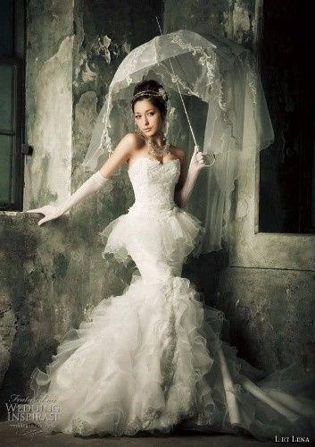 Guida agli accessori da sposa 9 - l'ombrello - con il velo