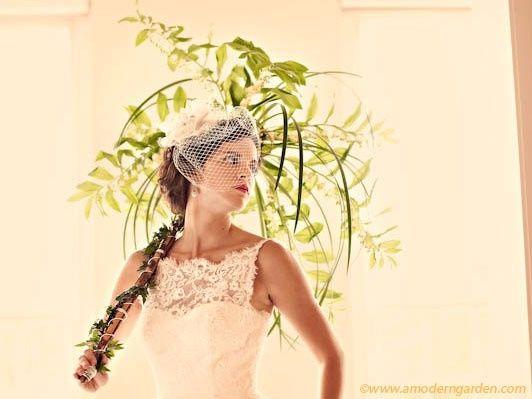 Guida agli accessori da sposa 9 - l'ombrello - con fiori