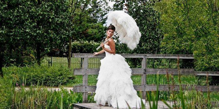 Guida agli accessori da sposa 9 - l'ombrello - piume