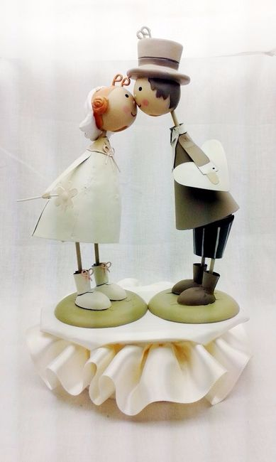 Torte Matrimonio Country Chic : Cake topper country shabby chic ricevimento di nozze