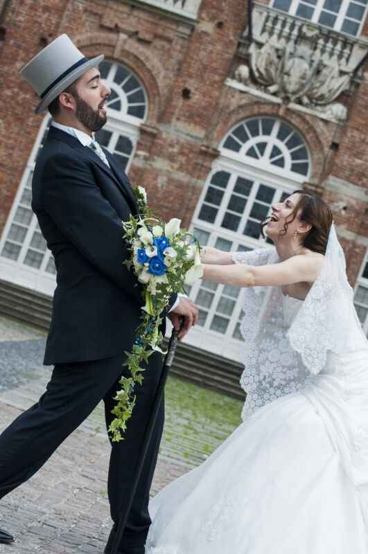 Bouquet bianco e blu.. - 1