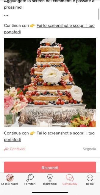 Fai lo screenshot e scopri la tua torta nuziale 8