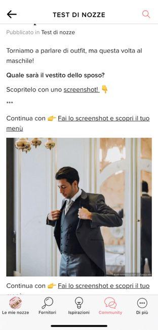 Fai lo screenshot e scopri il vestito dello sposo 10