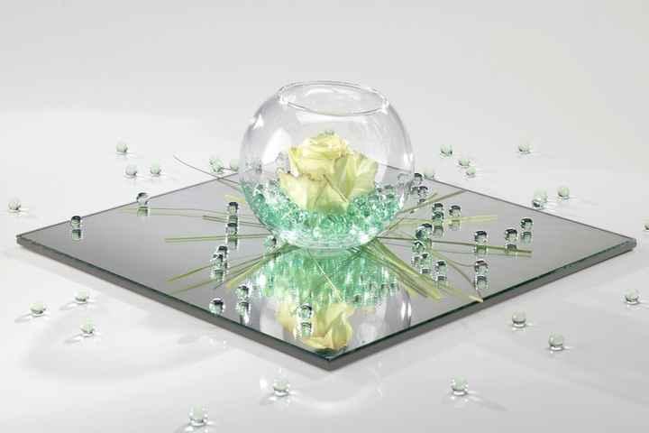 Centro tavola verde chiaro