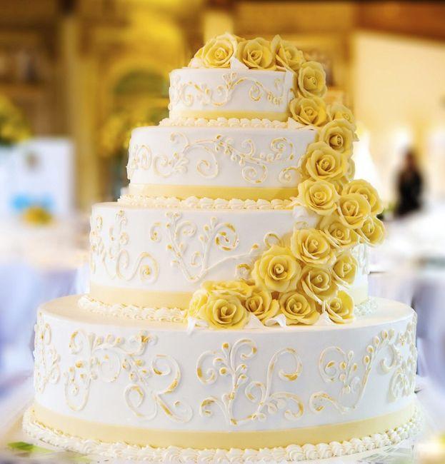 Torta nuziale organizzazione matrimonio forum - Decorazioni gialle ...