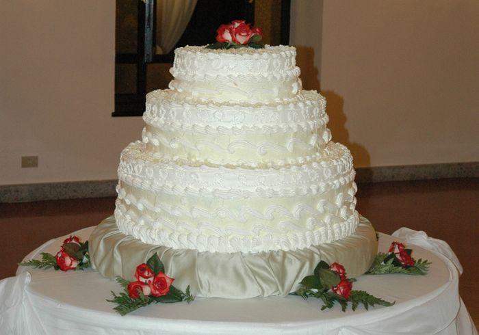 ... vedi la prima è una torta nuziale, la seconda è una wedding cake