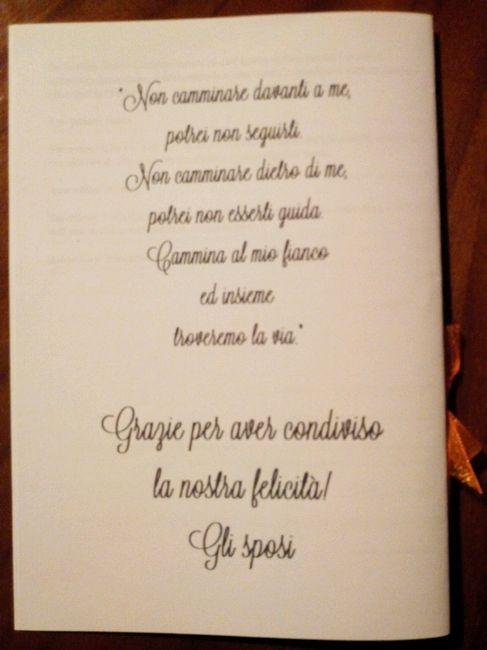 Frasi Matrimonio Libretto Messa.I Miei Fai Da Te E I Dettagli Che Spero I Miei Invitati