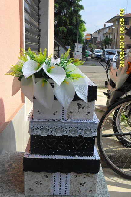 Buste Matrimonio Toscana : Eccola qui la mia torta porta buste fai da te forum
