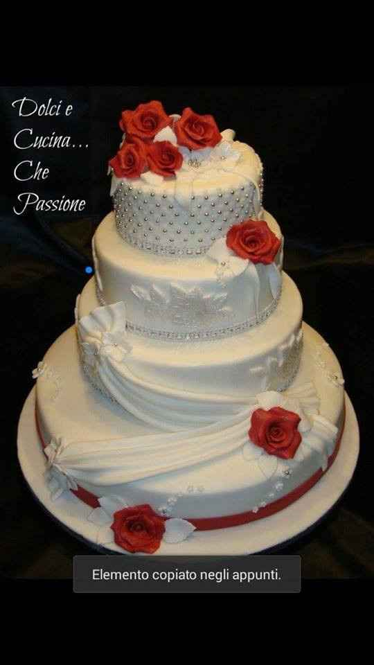 Wedding cake rossa