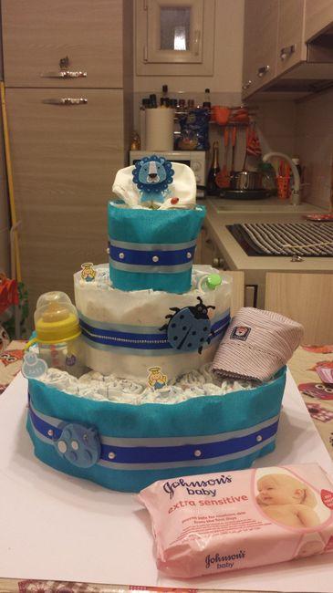 Diapers Cake - Torta di pannolini