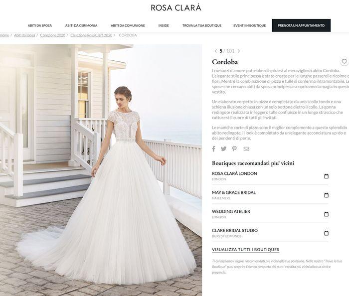 Modello del vostro abito da sposa 1