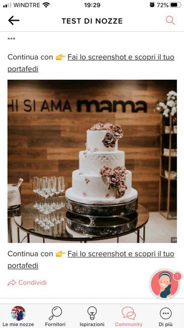 Fai lo screenshot e scopri la tua torta nuziale 10