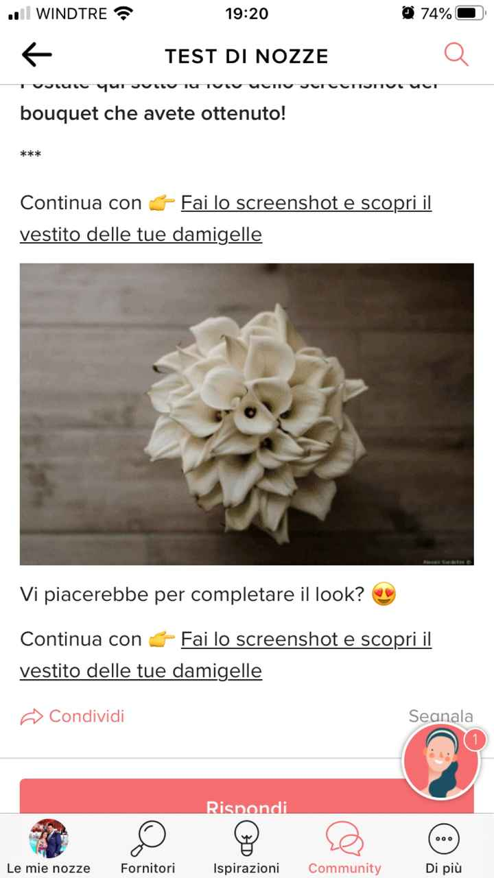 Fai lo screenshot e scopri il tuo bouquet - 1