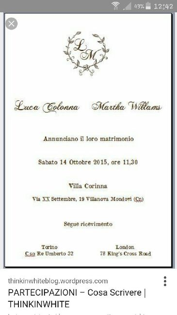 Partecipazioni Matrimonio In Word : Matrimonio in location cosa scrivere sulle partecipazioni